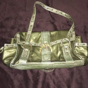 Green over the shoulder purse